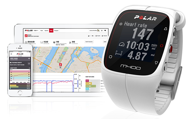 montre gps running polar m400