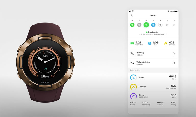 coach suunto 5 application